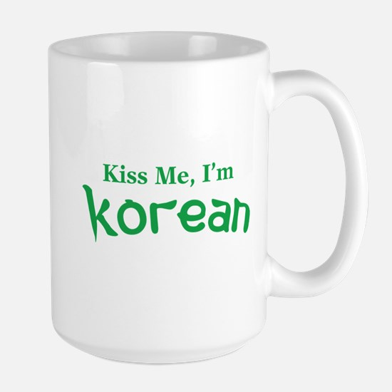 Kiss Me, I'm Korean Large Mug