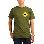 Turkey Crossing Sign Organic Men's T-Shirt (dark)