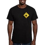 Turkey Crossing Sign Men's Fitted T-Shirt (dark)