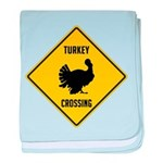 Turkey Crossing Sign baby blanket