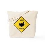 Turkey Crossing Sign Tote Bag