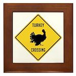 Turkey Crossing Sign Framed Tile