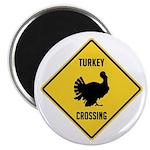 Turkey Crossing Sign Magnet