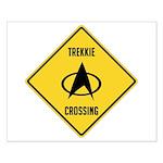 Trekkie Crossing Small Poster