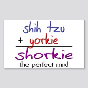 Shorkie PERFECT MIX Sticker (Rectangle)