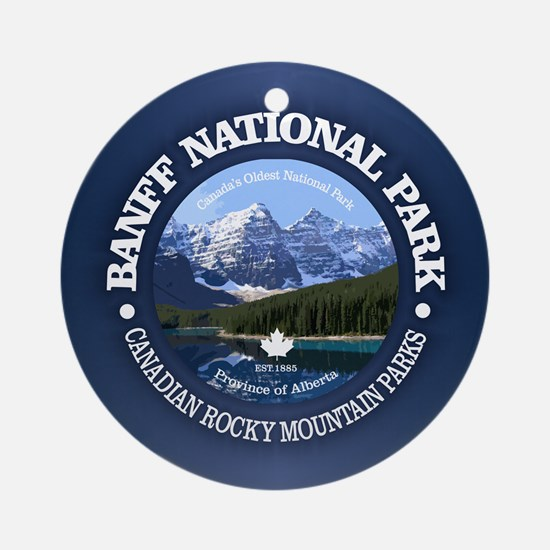 Banff National Park Round Ornament