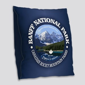 Banff National Park Burlap Throw Pillow