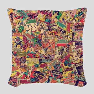 Transformers Comic Pattern Woven Throw Pillow