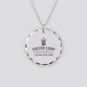 Prison Camp Necklace Circle Charm