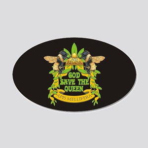 God Save the Queen 20x12 Oval Wall Decal