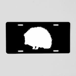 Hedgehog SILHOUETTE Aluminum License Plate