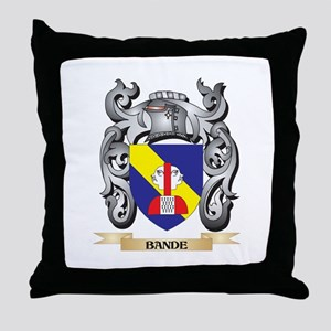 Bande Family Crest - Bande Coat of Ar Throw Pillow