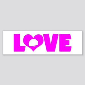 LOVE HEDGEHOGS Sticker (Bumper)