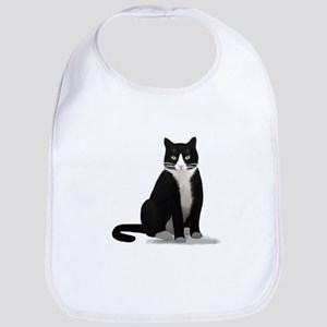 Black and White Tuxedo Cat Bib