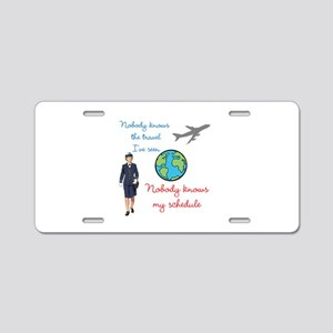 Nobody Knows The Travel I've Seen Aluminum License