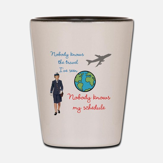 Nobody Knows The Travel I've Seen Shot Glass