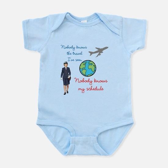 Nobody Knows The Travel I've Seen Infant Bodysuit