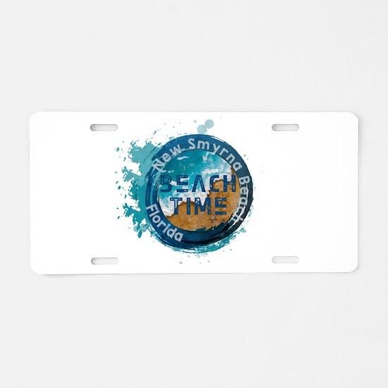 Florida - New Smyrna Beach Aluminum License Plate