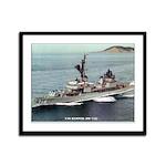 USS HAMNER Framed Panel Print