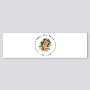 Tropicana Lounge Girl 1 Sticker (Bumper)
