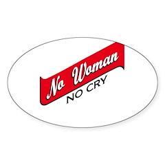 No Woman No Cry Sticker (Oval)