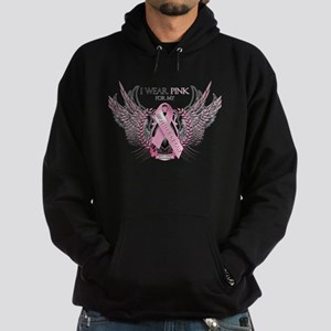 I Wear Pink for my Mother In Hoodie (dark)