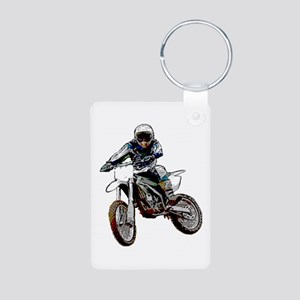 Playing in the dirt Aluminum Photo Keychain