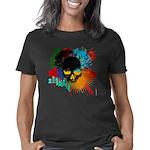 Art Skull colourful, abstr Women's Classic T-Shirt