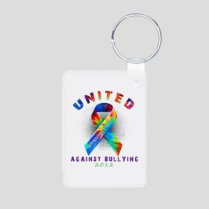 United Against Bullying Aluminum Photo Keychain