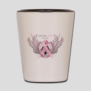 I Wear Pink for my Friend Shot Glass