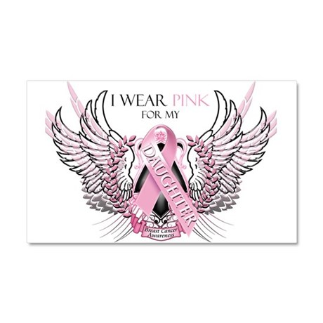 I Wear Pink for my Daughter Car Magnet 20 x 12