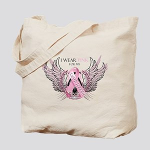 I Wear Pink for my Daughter Tote Bag