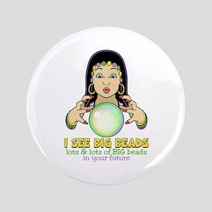 """Mardi Gras Gypsy 3.5"""" Button"""