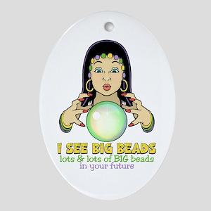 Mardi Gras Gypsy Ornament (Oval)