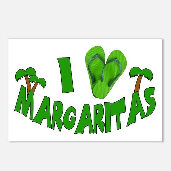 I love Margaritas Postcards (Package of 8)