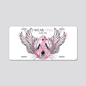 I Wear Pink for my Cousin Aluminum License Plate
