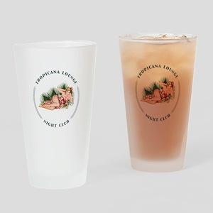 Tropicana Lounge Girl 2 Drinking Glass