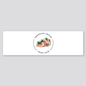 Tropicana Lounge Girl 2 Sticker (Bumper)