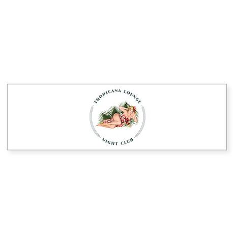 Tropicana Lounge Girl 2 Sticker (Bumper)