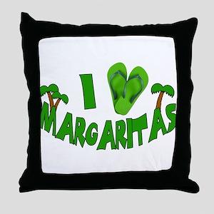I love Margaritas Throw Pillow