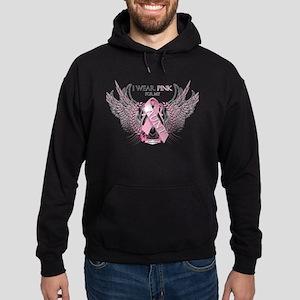 I Wear Pink for my Aunt Hoodie (dark)