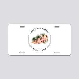 Tropicana Lounge Girl 2 Aluminum License Plate