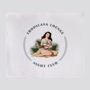 Tropicana Lounge Girl 3 Throw Blanket