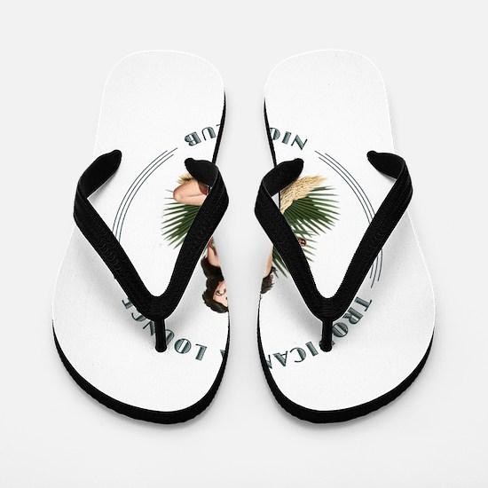 Tropicana Lounge Girl 3 Flip Flops