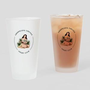 Tropicana Lounge Girl 3 Drinking Glass