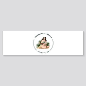 Tropicana Lounge Girl 3 Sticker (Bumper)