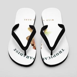 Tropical Paradise Island Girl Flip Flops