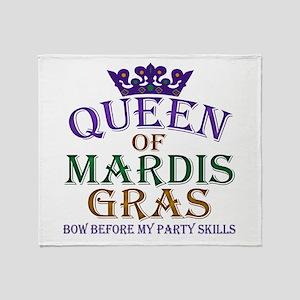 Queen of Mardis Gras Throw Blanket