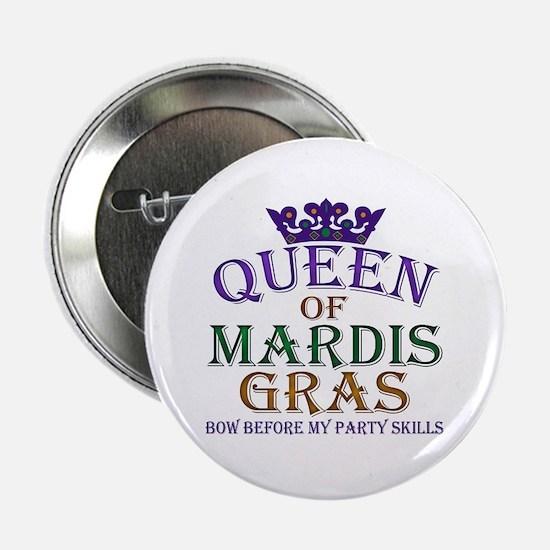 """Queen of Mardis Gras 2.25"""" Button"""