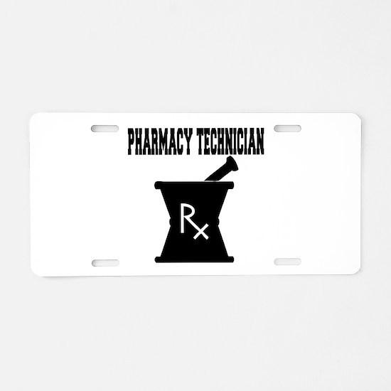 Pharmacy Technician Rx Aluminum License Plate